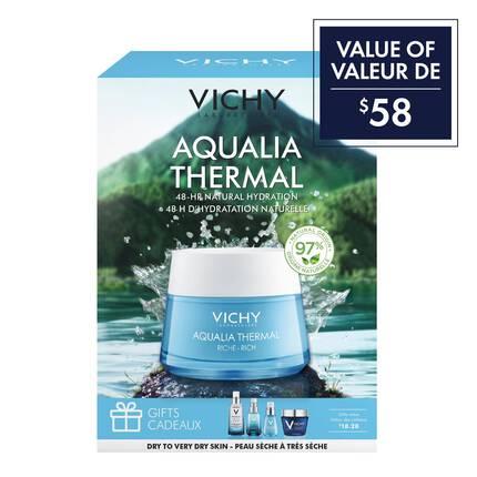 Aqualia Thermal Riche - coffret cadeau hydratation de la peau